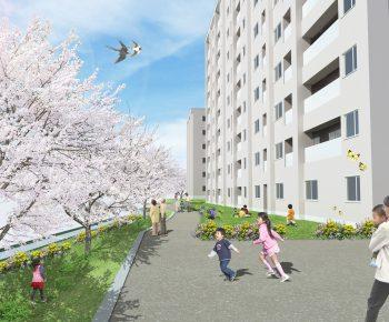H集合住宅_遊歩道